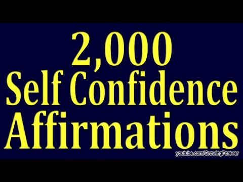 2,000 ★POWERFUL★ Self Confidence Affirmations  Subconscious Mind Power, Law of Attraction Video