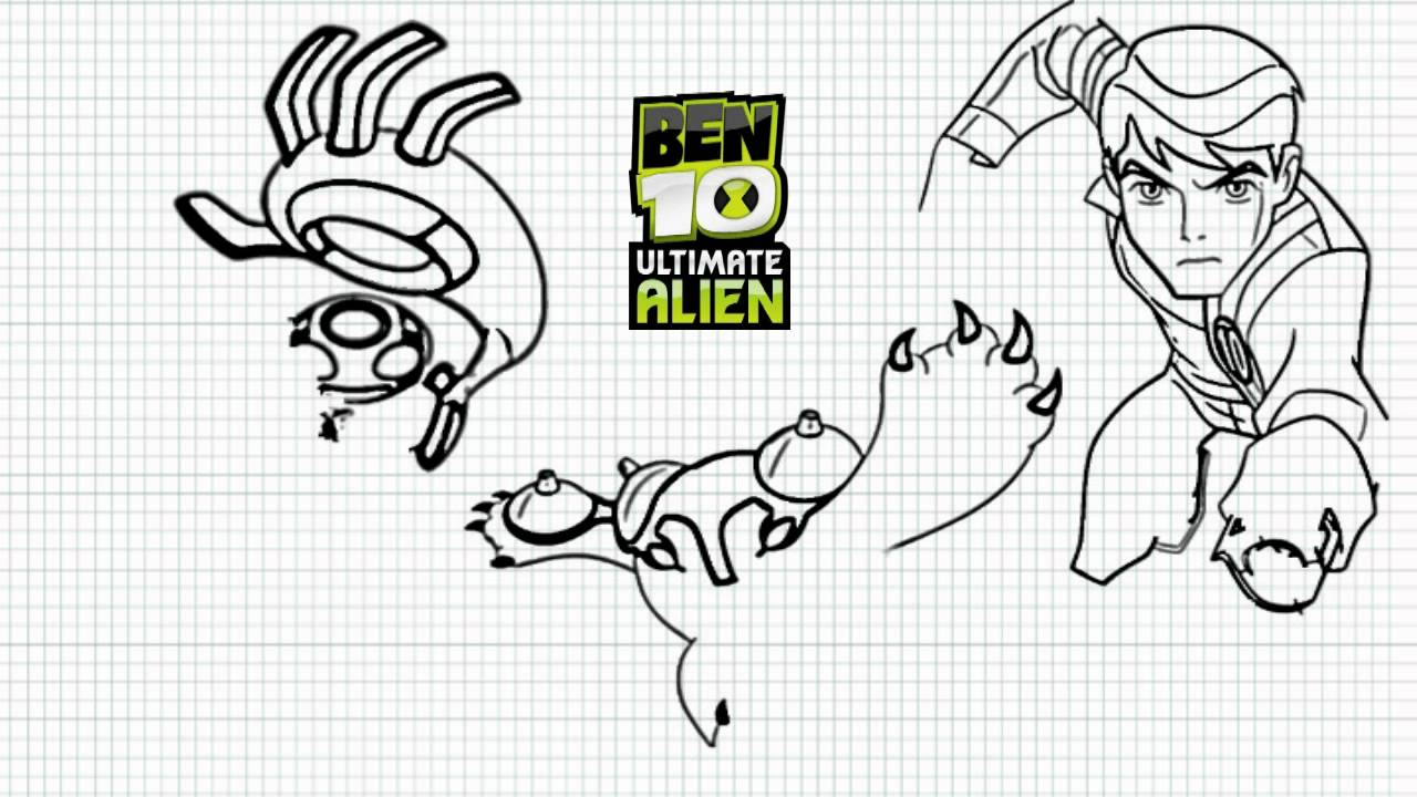ben 10 ultimate alien how to draw ben ultimate echo echo and