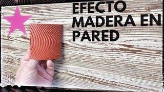 Como hacer IMITACIÓN a madera en una pared
