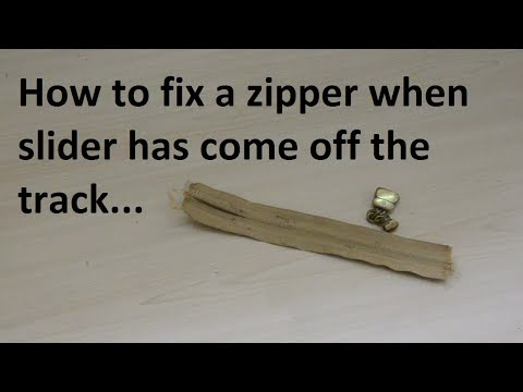 how to fix zipper that came off track - no tools needed