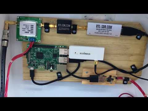 Raspberry Pi NOAA setup with QFH antenna with LNA. Powered by solar panels