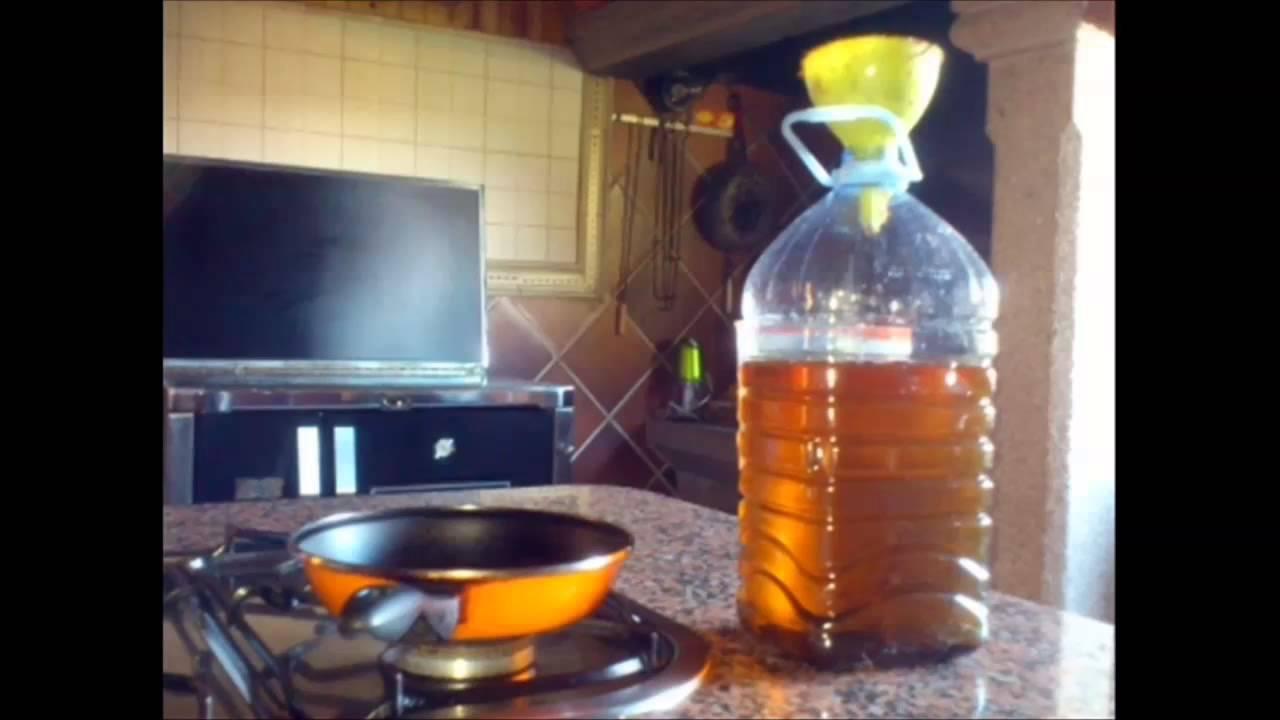 video tutorial procedimiento reciclar aceite de cocina