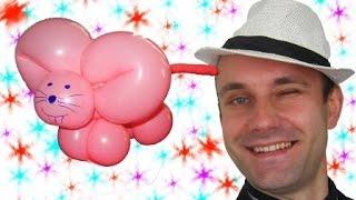 Мышка из шариков шдм аэродизайн ★ Mouse from balloons(Еще одна игрушка из шдм. Я подробно показываю как ее сделать. Учитесь на здоровье. Я вконтакте: http://vk.com/duettandem..., 2014-10-21T20:07:47.000Z)