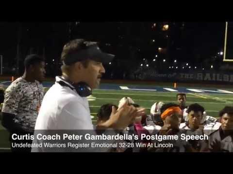 PSAL football: Curtis coach Peter Gambardella praises his Warriors