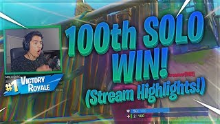GETTING MY 100th SOLO WIN ON FORTNITE! (Stream Highlights) #DareFRC