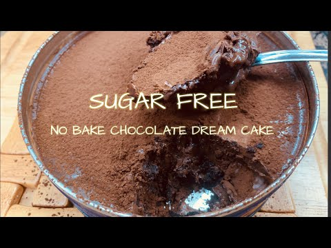 NO BAKE SUGAR FREE CHOCOLATE DREAM CAKE IN CAN FOR KETO AND LOW CARB DIET