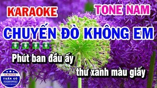 Karaoke Chuyến Đò Không Em | Nhạc Sống Tone Nam | Karaoke Tuấn Cò