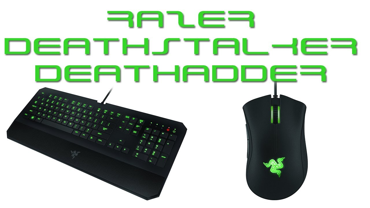 Razer DeathStalker and DeathAdder 2013 - Gaming Keyboard and Mouse