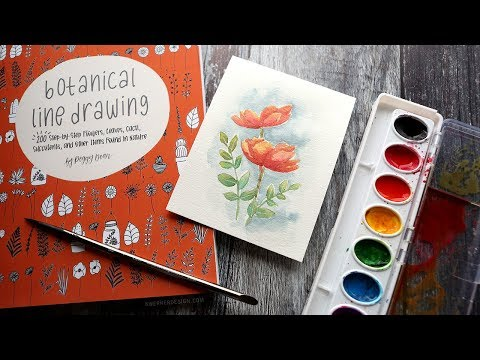Minimal Supplies Card with Botanical Drawing Book