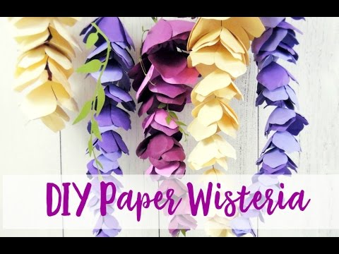 Diy Paper Wisteria Youtube