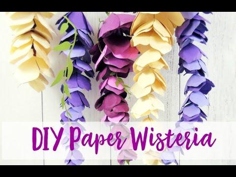 DIY Paper Wisteria