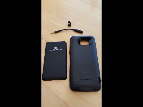 new styles e6753 bd799 Zerolemon 3500mAh Slim Power Case for S6 Edge Unboxing & Review ...