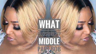 What Closure?!? Middle Part Bob