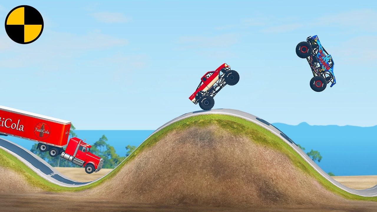 Сars vs Hill Climb Racing 😱 BeamNG.Drive