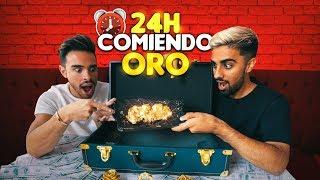 24 HORAS COMIENDO ORO! +$5000 💰COMIDA DE LUJO