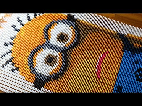 MINIONS in 8,500 Dominoes!