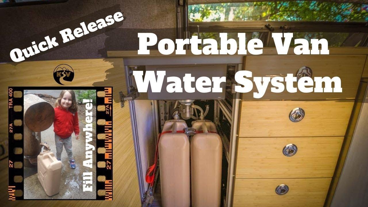 Simple Sink Water System Diy Sprinter Camper Van Youtube