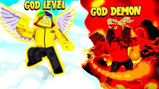 I got GOD LEVEL POWER to Fight the 666 MAX DEMON (Roblox)