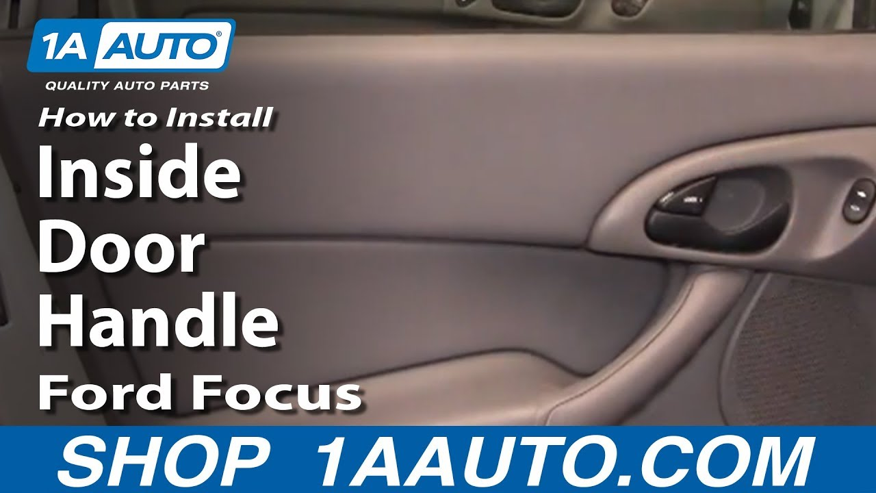 how to install replace rear inside door handle ford focus 00 07 2002 Ford Explorer Heater Core Diagram how to install replace rear inside door handle ford focus 00 07 1aauto
