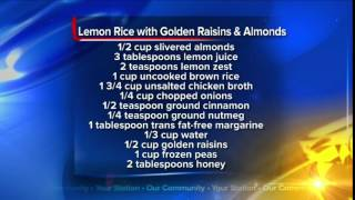 Lemon Rice With Golden Raisins And Almonds