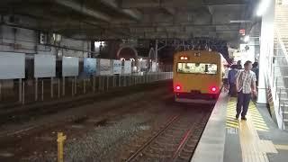 115系(伯備線普通列車2B)866M   倉敷駅入線発車