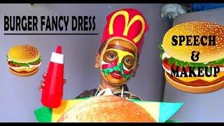 Burger fancy dress for kids / speech and makeover idea