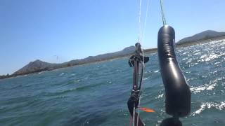 Pollensa Bay kitesurfing Mallorca kite ride 15 mts Speed 3 Flysurfer kiteschule
