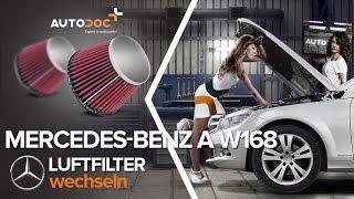 Auto Ersatz Luftfilter beim MERCEDES-BENZ A-CLASS (W168) montieren: kostenlose Video