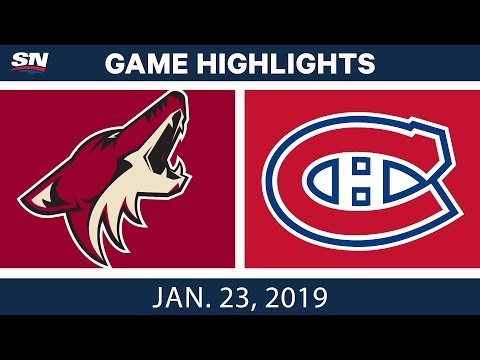 NHL Highlights | Coyotes vs. Canadiens - Jan. 23, 2019