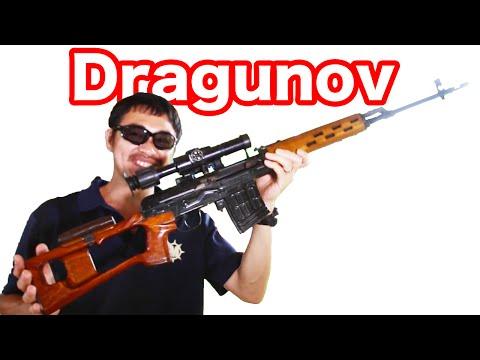 【実弾射撃】ドラグノフ (Dragunov) スナイパー ライフルを撃ってみた!【マック堺のレビュー動画】