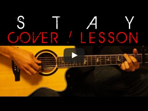 STAY - Zedd, Alessia Cara Cover 🎸 Easy Acoustic Guitar Tutorial ...
