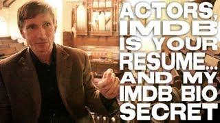 Actors, IMDB Is Your Resume... and My IMDB Bio Secret by Bill Oberst Jr.