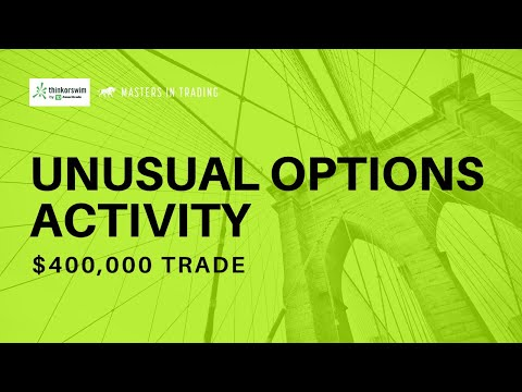 Unusual Options Activity Trade | Stock Options Trading | Thinkorswim