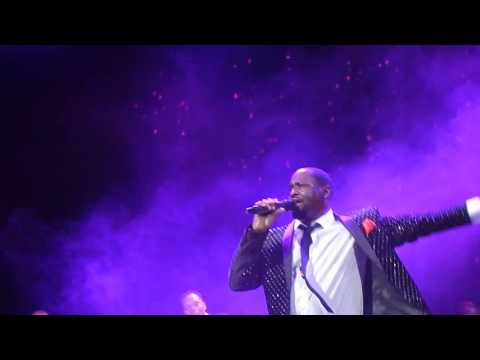 "Johnny Gill singing ""Game Changer."""