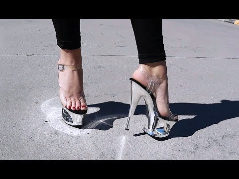 unboxing-try-on-pleaser-moon-708-silver-mirror-chrome-7-inch-high-heel-shoes