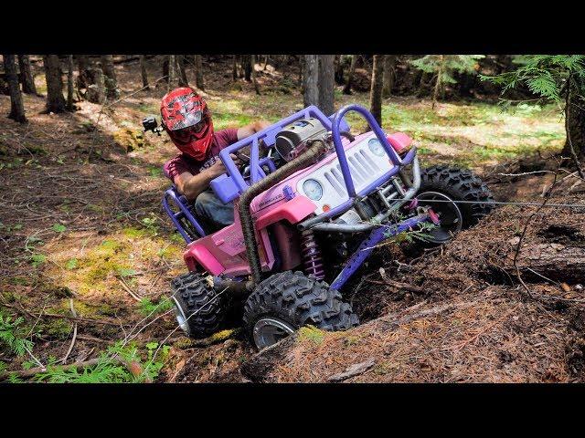 Barbie Jeep Gets a Real Winch