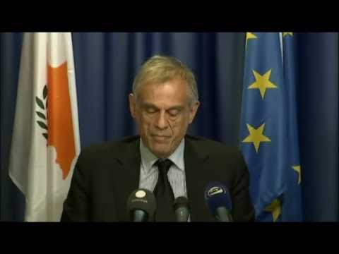 Cyprus bailout - press briefing by Michalis Sarris, Cypriot Minister for Finance