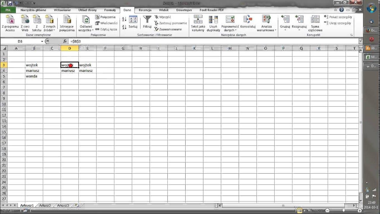 Excel8 Jak Zablokować Wiersze I Kolumny W Excelu