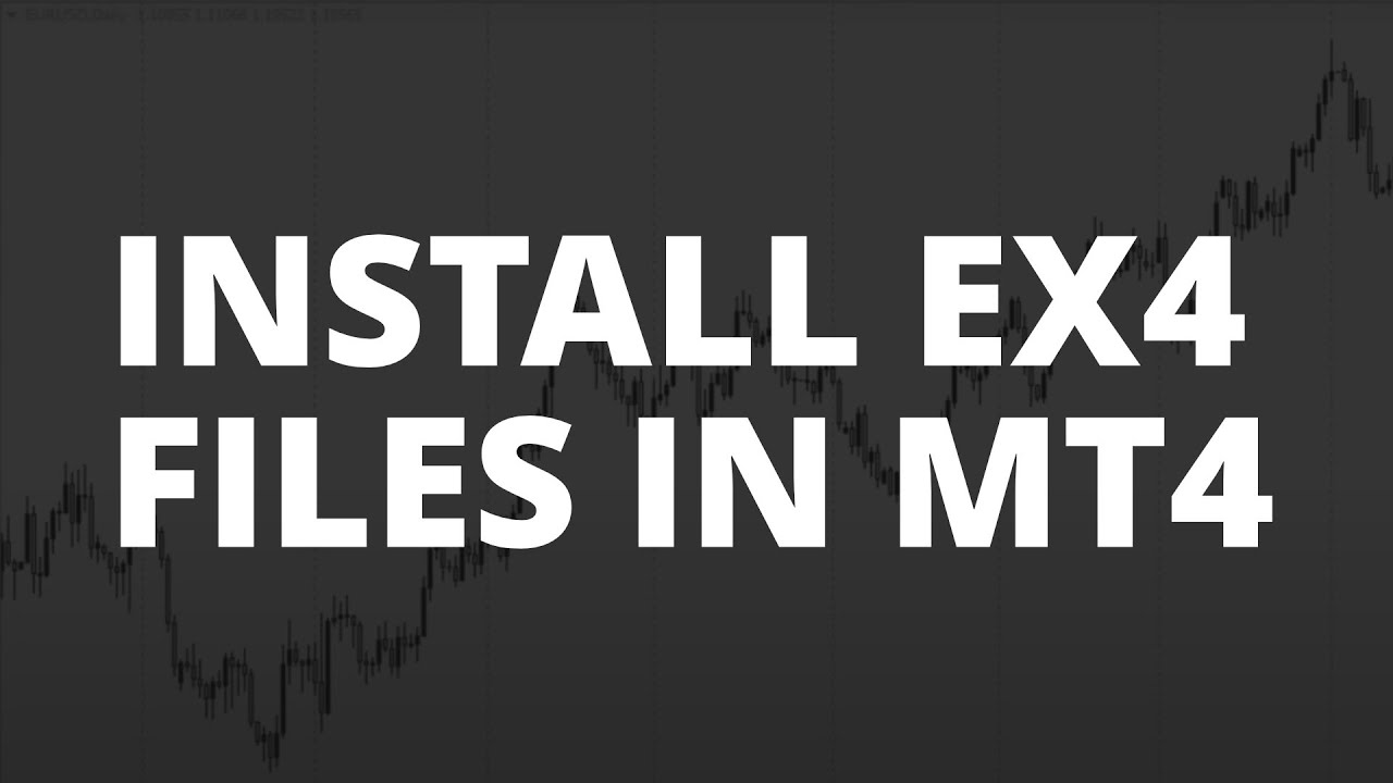 Technical Analysis Edges How Do I Load Ex4 Files In Metatrader