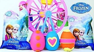 New Frozen Toys Fashems Zelfs Play Doh Surprise Eggs Blind Bags Juguetes De Huevos De Plastilina
