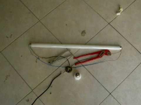 Plafoniera Con Reattore Elettronico : Neon con ballast elettronico youtube