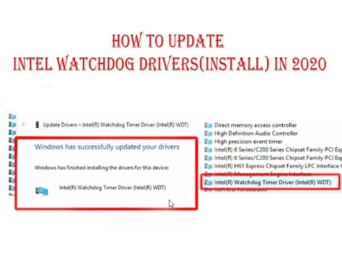 How To Update Intel® watchdog drivers  in Windows 10, 7, 8 (intel HD Graphics ) 2020 New Update