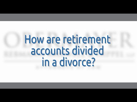 Cherry Hill Divorce Lawyers: How Are Retirement Accounts Divided?