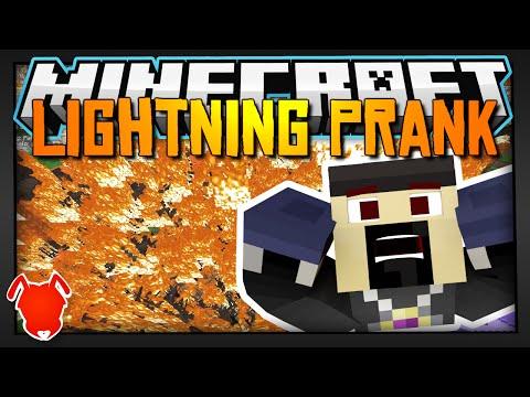 BEST LIGHTNING PRANK in MINECRAFT!