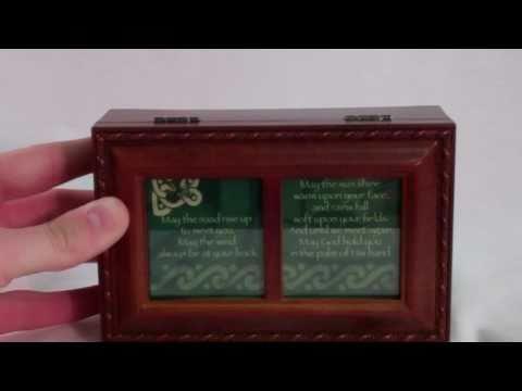 Catholic Gifts: Irish Road - Irish Eyes Wood Music Box