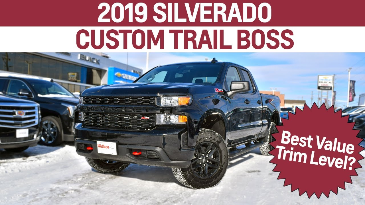 2019 Chevy Silverado Custom Trail Boss - All You Need To Know! - YouTube