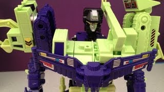 TRANSFORMERS DEVASTATOR - G1 CONSTRUCTICONS VIDEO TOY REVIEW