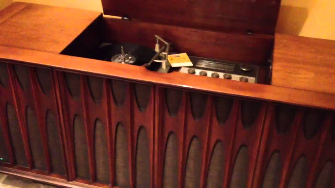 rca turntable and stereo console youtube