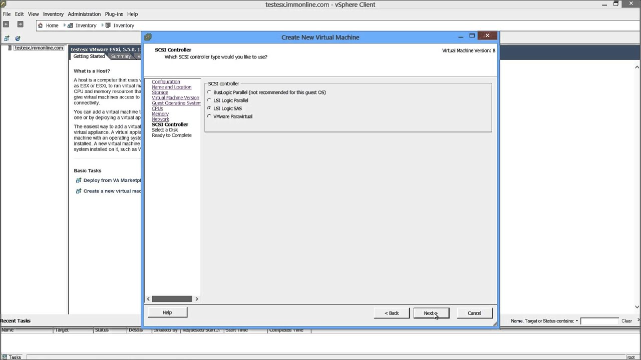 How To Create a Virtual Machine On An VMWare ESXi Host Using a VSphere  Client