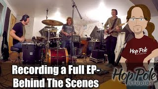A Recording Studio Engineer recording a full EP - Behind The Scenes